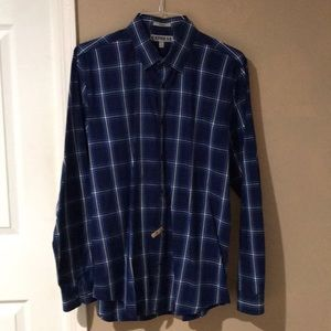 Express plaid shirt. Fitted